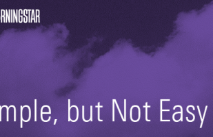 simple but not easy podcast title photo with cloudy purple background.