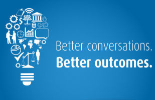 title page for better conversations. Better Outcomes.
